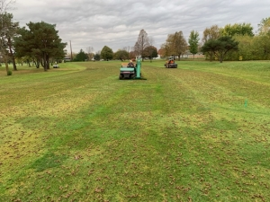 Harvester and Aerifier in action
