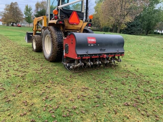 Tractor with Aerifier
